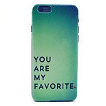 Always Love Pattern Plastic Hard Cover for iPhone 6