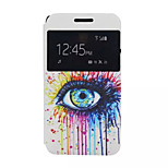 Eyes Pattern PU Leather Phone Case For Lenovo A319