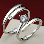Couples' Kiss the lifelong Silver Ring(A pair of selling)