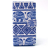 Tribal Elephant Carpet Pattern PU Leather Cover with Stand and Card Slot for Sony Xpeira Z4 Compact/Z4 Mini