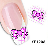 5Pcs Beautiful Bowknot Pattern Nail Stickers