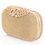 Golden and Silver Color Bags with Rhinestone and Evening Handbags Wedding Bridesmaid Hand Bag Accessories
