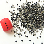 200PCS 2mm Black Roundness Alloy Nail Art Golden&Silver Decorations