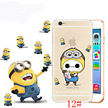 Case for iPhone 6 Cartoon Baymax Cosplay Cartoon Animals Color Printed Ultra-thin TPU Soft Case for Apple