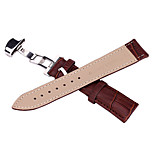 High Quality Crocodile Leather with  Butterfly Buckle Strap Bracelet for Apple Watch 42mm