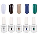 Gelpolish Nail Art Soak Off UV Nail Gel Polish Color Gel Manicure Kit 5 Colors Set S119
