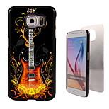 Fashion Guitar Pattern Aluminum Hard Case for Samsung Galaxy S6