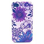 motif de chrysanthème pc transparent givré couverture arrière pour iPhone 4 / 4S