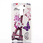 Purple Butterfly Tower Pattern Slim TPU Material Phone Case for LG G4