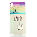 Sandy Beach Pattern Painted Transparent Frosted PC Material Phone Case for Sony Z3