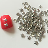 200PCS Silver Star Rivet Nail Art Decorations