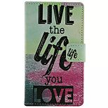Letter  Pattern Wallet Card PU Case With Stand For Microsoft Lumia 435