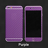 Fibra de carbono 3d cuerpo de vuelta pegatina película llena para el iphone 4 / 4s (colores surtidos)
