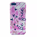 Safflower  Pattern PC Hard Case For iPhone 5/5S