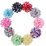 5Pcs DIY Handmade Gauze Satin Mixed Colors Flower for Headbands, Scrapbooking and More Decoration(Random Delivery)