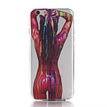 Female Body Pattern TPU Material Phone Case for iPhone 6/6S