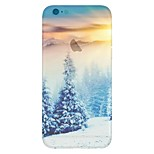 Snow Forest Landscape Pattern Transparent TPU Material Phone Case for iPhone 6 /6S