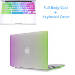 Top Selling Rainbow Slim Flip Full Body Hard Case and TPU Keyboard Cover for Macbook pro 13.3 inch