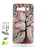Colored Trees Pattern Painted Soft Phone Case And Dust Plug Stylus Pen Stand Combination for Alcatel C9