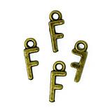 Beadia 100PCS Alphabet Letter F 6x16mm Antique Bronze Alloy Charms Pendants DIY Accessories