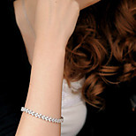 Women's Fashion Crystal Rhinestone Hand Chain Ring Bracelet 19cm