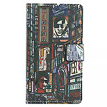 Great Shanghai Pattern Wallet Card PU Case With Stand For Microsoft Lumia 435