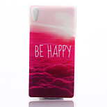 Red Cloud Pattern TPU Material Phone Case for Sony Z4