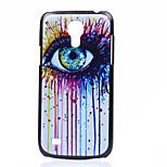 Augenmuster Druck schwarz mattiert PC-Material Telefonkasten für Samsung i9190 s4 Mini