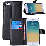 Litchi Around Open Bracket Leather Phone Wallet Card Suitable for iPhone 6(Assorted Color)