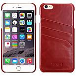 echtes Leder und Ganzkörper-Fall und Kartensteckplatz für Apfel iphone6 4,7-Zoll-