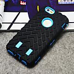 caso de goma patrón de los neumáticos de protección con cubierta del soporte para el iphone 6
