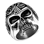 Terrorist Skulls Exaggerated Personality Rock Titanium Steel Stainless Steel Men's Ring