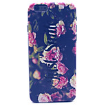Black flower Smiling Pattern Plastic Hard Cover for iPhone 6