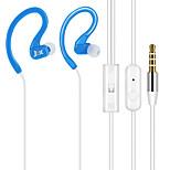 JTX-Y01 3,5 milímetros de alta qualidade microfone no fone de ouvido da orelha para o iPhone e outros celulares (cores sortidas) com