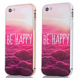 Metal Frame + Happy Cloud Pattern Backplane Back Case Cover for iPhone 5/5S (Assorted Colors)