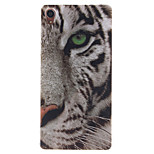White Tiger Pattern TPU Soft Case for Sony Xperia Z3