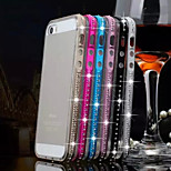Multicolor Rhinestone Piano Metal Frame + TPU Phone Case For iPhone 5/5S  (Assorted Colors)