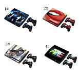 ps3 playstation 3 slim + 2 denetleyicileri ciltler için cilt etiket kapak çıkartma