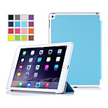 IVSO Ultra-Thin Slim Smart High Quality Cover Case-With Auto Sleep/Wake Function for iPad Air 2 Tablet (Blue)