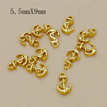 W117 10pcs/lot Fashion Golden Anchor Alloy Nail 5.5mm*9mm Nail Tools Rhinestones For Nails Alloy Glitters DIY 3D Decor