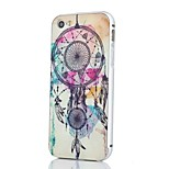 Silver Edge Metal Frame and Campanula Pattern PC Backplane Can pull Combo Material Phone Case for iPhone 5/5S