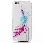 Feather Pattern TPU Soft Material Phone Case for iPhone 6