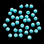 CandyPearl5mm 100pcs/lot Ladies Fashion Half Round Pearls Sky Blue 5mm Candy Pearls in Wedding Party Decoration