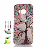 alberi colorati modello cassa del telefono materiale tpu dipinto e la spina della polvere pennino stanno combinazione per htc m9