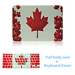 Top Quality Luxury Canada Flag Pattern Full Body Case Cover and TPU Keyboard Cover for Macbook Pro 13.3 inch