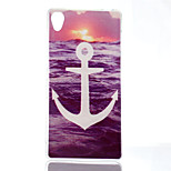 White Anchors Pattern TPU Material Phone Case for Sony Xperia Z3