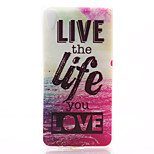 Love Life Pattern Material TPU Soft Phone Case for Sony Xperia Z3
