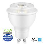 Bymea GU10 7.5W COB LED Spot Bulbs Lamp Replace 50watt 500lm Warm White, Daylight Dimmable (120V)