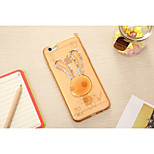 The New Rabbit Ears with Flash Color TPU Soft Shell for iPhone 6 Plus(Assorted Colors)