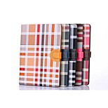 Irregular Grid Pattern PU Leather Full Body Case with Card Holder For Ipad Air2 Ipad 6(Assorted Colors)